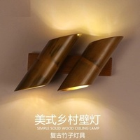 Loft Style Bamboo Vintage Wall Light Fixtures Antique Industrial Wind LED Wall Sconces Stair Bedside Wall Lamp Indoor Lighting