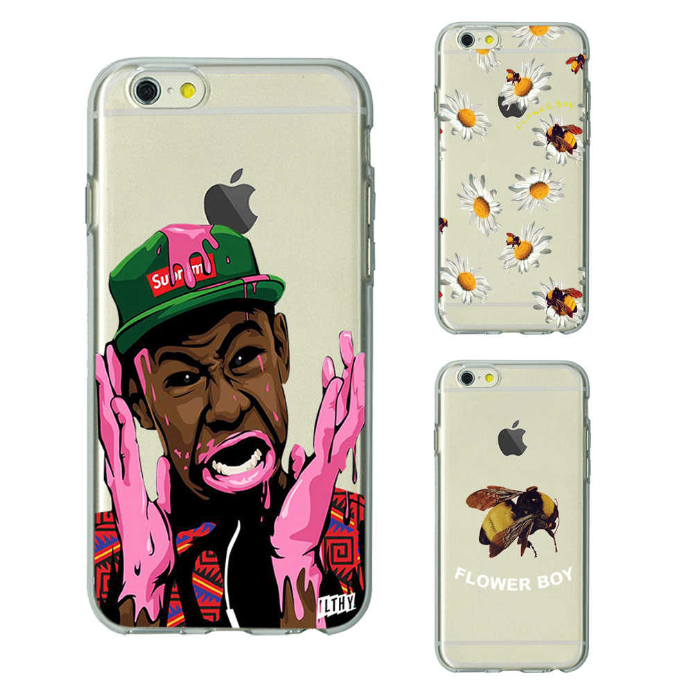 98f824d42f1e flower boy tyler the creator TPU soft Silicone clear cover phone case for iPhone  X 6