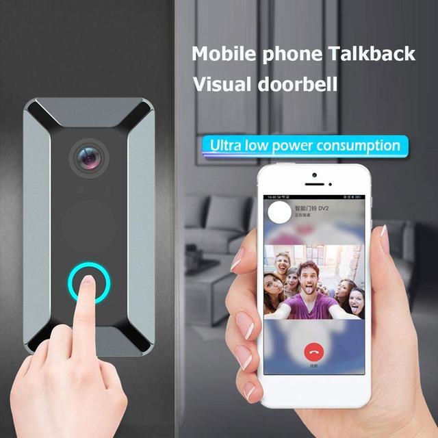 V6 HD 720P vidéo porte cloches sans fil WiFi intelligent sonnette étanche IP porte carillon interphone visuel pour caméra de sécurité à domicile