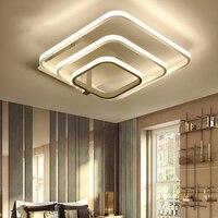 Современные светодиодные люстра с пультом дистанционного управления акриловые огни для Гостиная Спальня дома Люстра потолочная светильни
