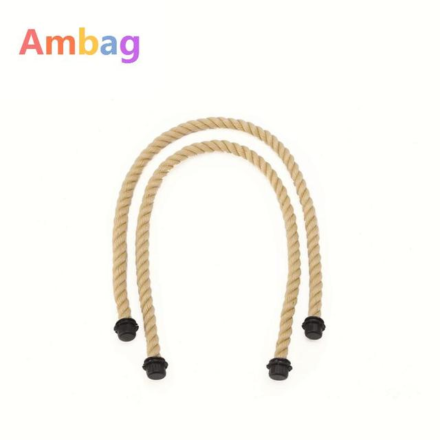 1 Pair Hemp Rope Handles For Ambag Accessories Diy Women S Bags Shoulder O Bag Handbag Handle