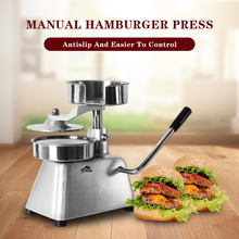 150mm Patty Maker Hamburger Press Forming Machine With 500pcs Burger Paper Round Meat Aluminum Alloy Food Processors