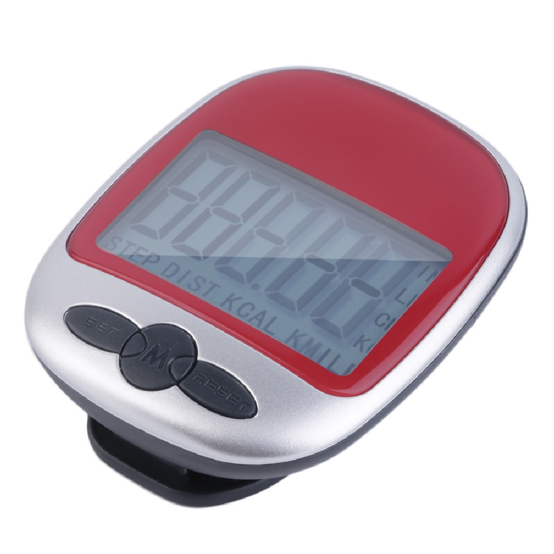 LCD Pedometer Red Calorie Walking Running Jogging Walking Distance Calculation Digital Counter Running Walking contapassi
