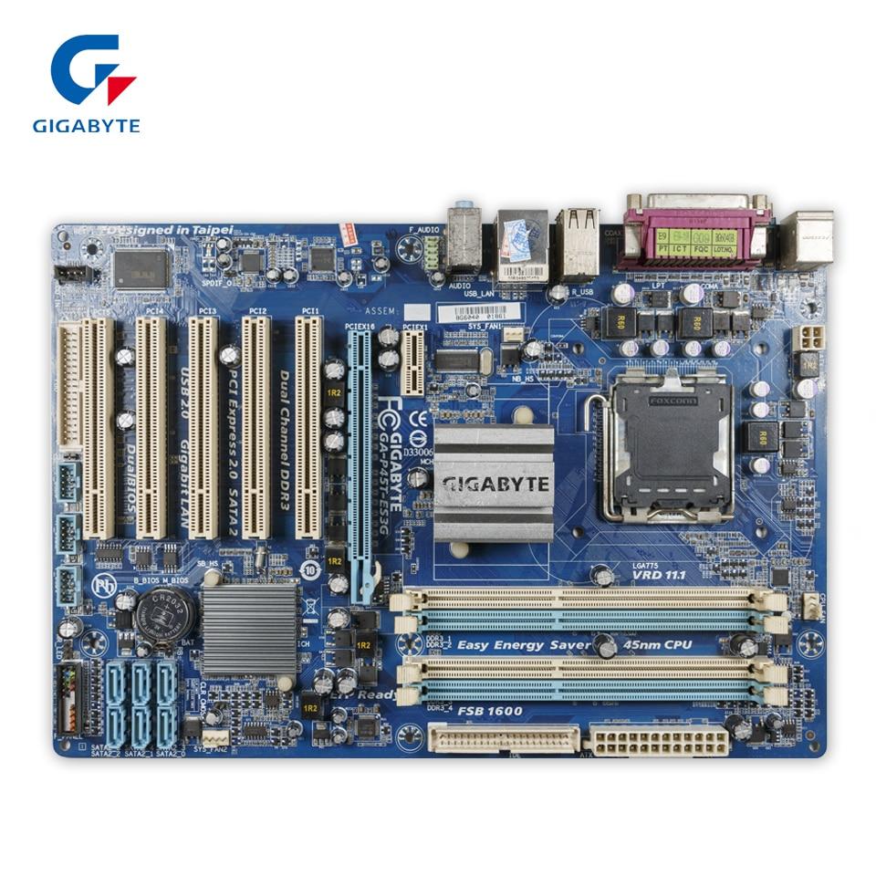 Gigabyte GA-P45T-ES3G Desktop Motherboard P45T-ES3G P45 LGA 775 DDR3 16G SATA2 USB2.0 ATX gigabyte ga ep45 ud3l original used desktop motherboard ep45 ud3l p45 lga 775 ddr2 16g sata2 usb2 0 atx
