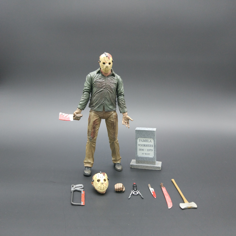 Friday The 13TH The Final Chapter Freddy Vs Jason Action Figure Toy Collection Kids Toys Christmas Birthday Gifts 17cm
