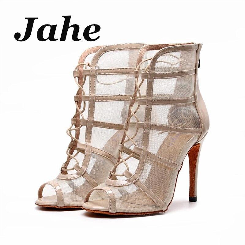 Newest Latin Dance Shoes Women Ballroom shoes high heel 10cm Salsa Social Party Dancing Shoes For Women Girls(China)
