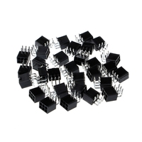 30Pcs/Pack 4.2mm 6P Female Socket Straight Curved Needle Power Connector for PCI-E Connectors