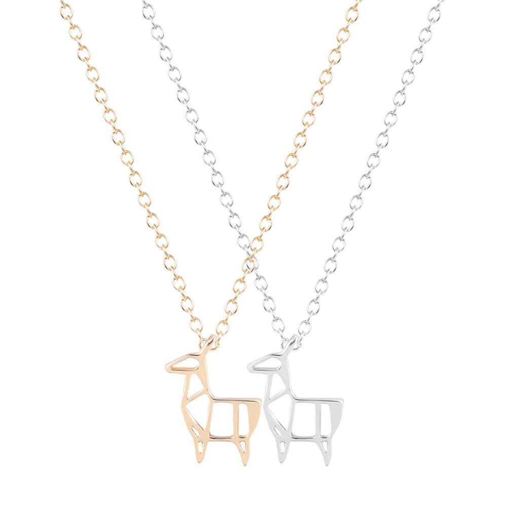 Модное милое животное олень овца ожерелье короткая цепочка Кулон ожерелье Рождественский подарок на день рождения для девочек женские ювелирные изделия
