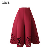 2016 Skirt Ladies Elegant Casual High Waist Pleated Skirt Long Tulle Skirts Straight Skirts Solid Mesh