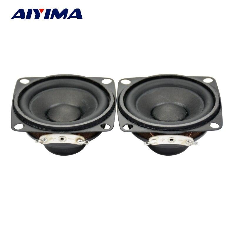 AIYIMA 2Pcs 2Inch Audio Portable Speakers 4 8Ohm 5W Enthusiast DIY HiFi Full Range Neodymium Magnetic Speaker Stereo Tweeter