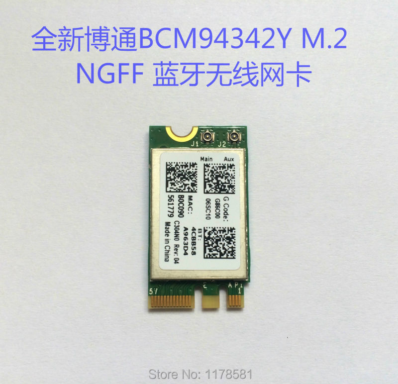 Netzwerk Karten Sammlung Hier Bcm943142y M.2 Ngff Drahtlose Wifi Bluetooth 4,0 Karte Für Dell Asus
