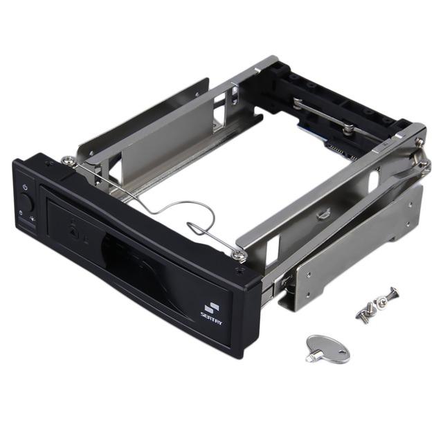 3.5 polegada HDD SATA Hot Swap Interna Do Recinto Móvel Rack com Fechadura com Chave
