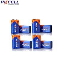 8 Pcs PKCELL אלקליין 9 V 6LR61 סוללה 6AM6 1604A MN1604 522 סוללות עבור עשן גלאי גז תנורי מים דוד מיקרופון