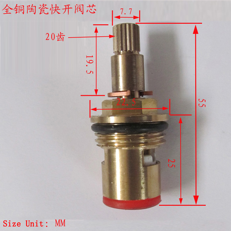 Bathroom shower faucet thermostatic cartridge, Brass thermostatic ...