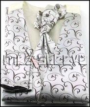 Free shipping New Full Back lining fancy swirl pattern waistcoat