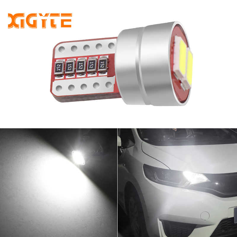 Car Signal Lights T10 w5w Led Bulb Error Free 12V Auto Interior Light w5w Canbus T10 2 Led Lamps Bulbs Car Styling for Cars