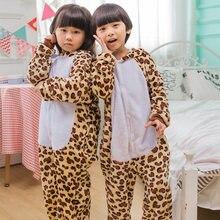 f99636be8a Leopardo osos manta Monos niños mono niños pijamas animal Cosplay kigurumi  onesie Pijamas