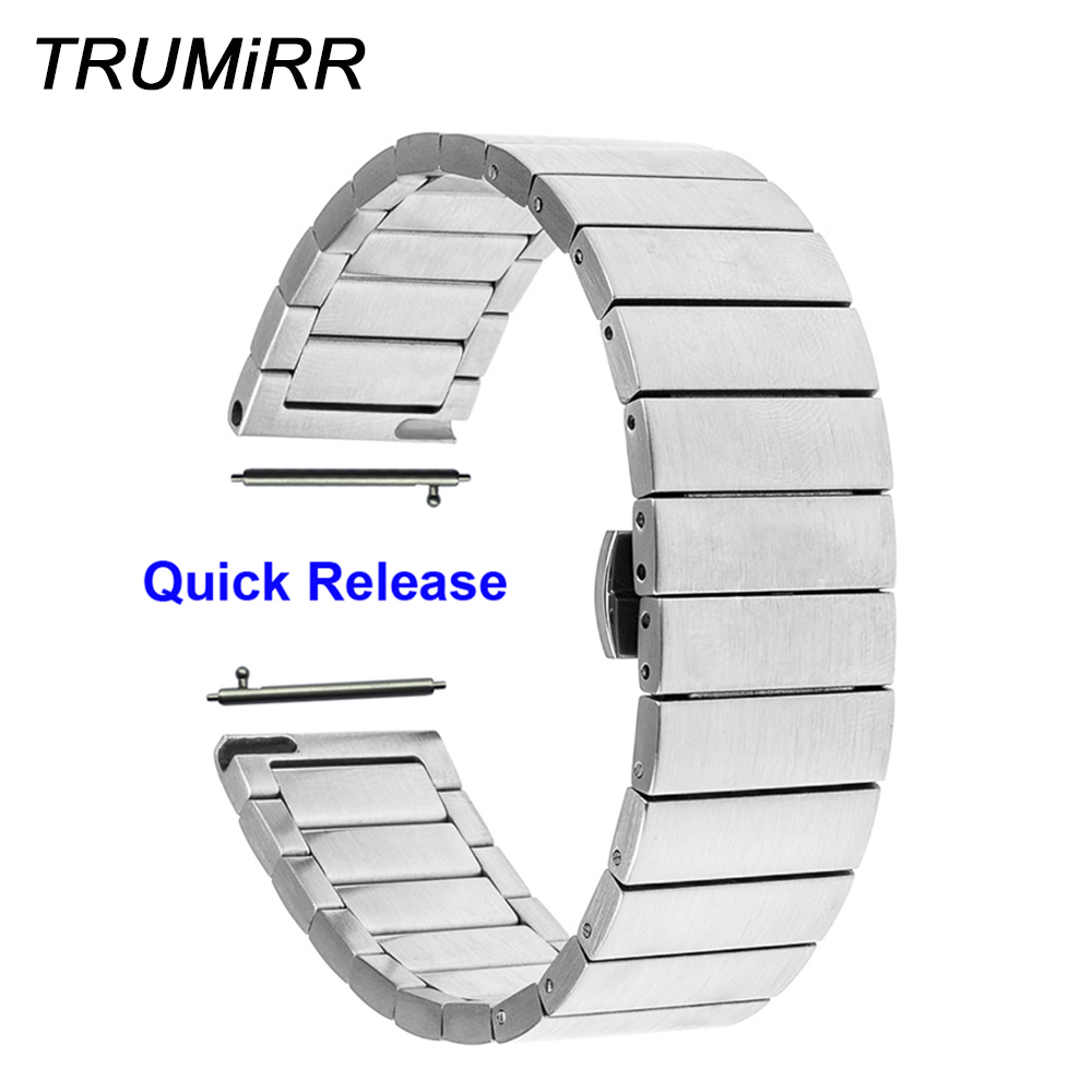 18mm 20mm 22mm Stainless Steel Watch Band Quick Release Strap for Breitling Men Women Butterfly Buckle Wrist Belt Black Silver stainless steel watch band 18mm 20mm 22mm for fossil curved end strap butterfly buckle belt wrist bracelet black gold silver