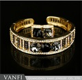 New Bracelet Hot Bracelets Gold Plated Black stone CZ Stone Austria Crystal Hot Bracelets Bangle
