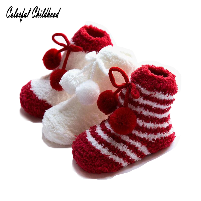 Warme Socken frottee kinder Weihnachten socken aus baumwolle dicke ...