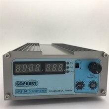 V e 220 com Ovp e ocp e otp Nova Precisão Digital Ajustável DC Power Supply Cps-3010 30 V 10A Switchable 110 Poder 0.01a 0.1