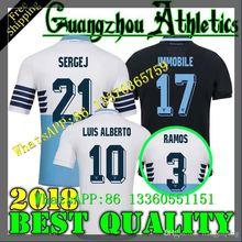 bdaecac8557 2019 Lazio Home Blue Soccer shirt 18 19 Lazio Soccer Shirts  17 IMMOBILE  21  SERGEJ  19 LULIC  10 LUIS ALBERTO Football Shirt