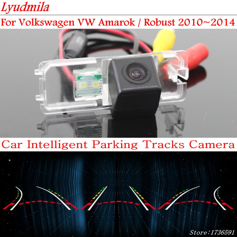 Lyudmila pour Volkswagen VW Amarok/robuste 2010 ~ 2014 voiture intelligente sauvegarde caméra de recul Parking piste de guidage dynamique