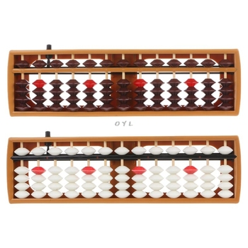 Portable Japanese 13 Digits Column Abacus Arithmetic Soroban Caculating School Math Learning Tool