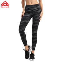 SYPREM Sports Pants Bronzing Pattern Yoga Pants Breathable Highly Elastic Quick Dry Running Tights Fitness Leggings
