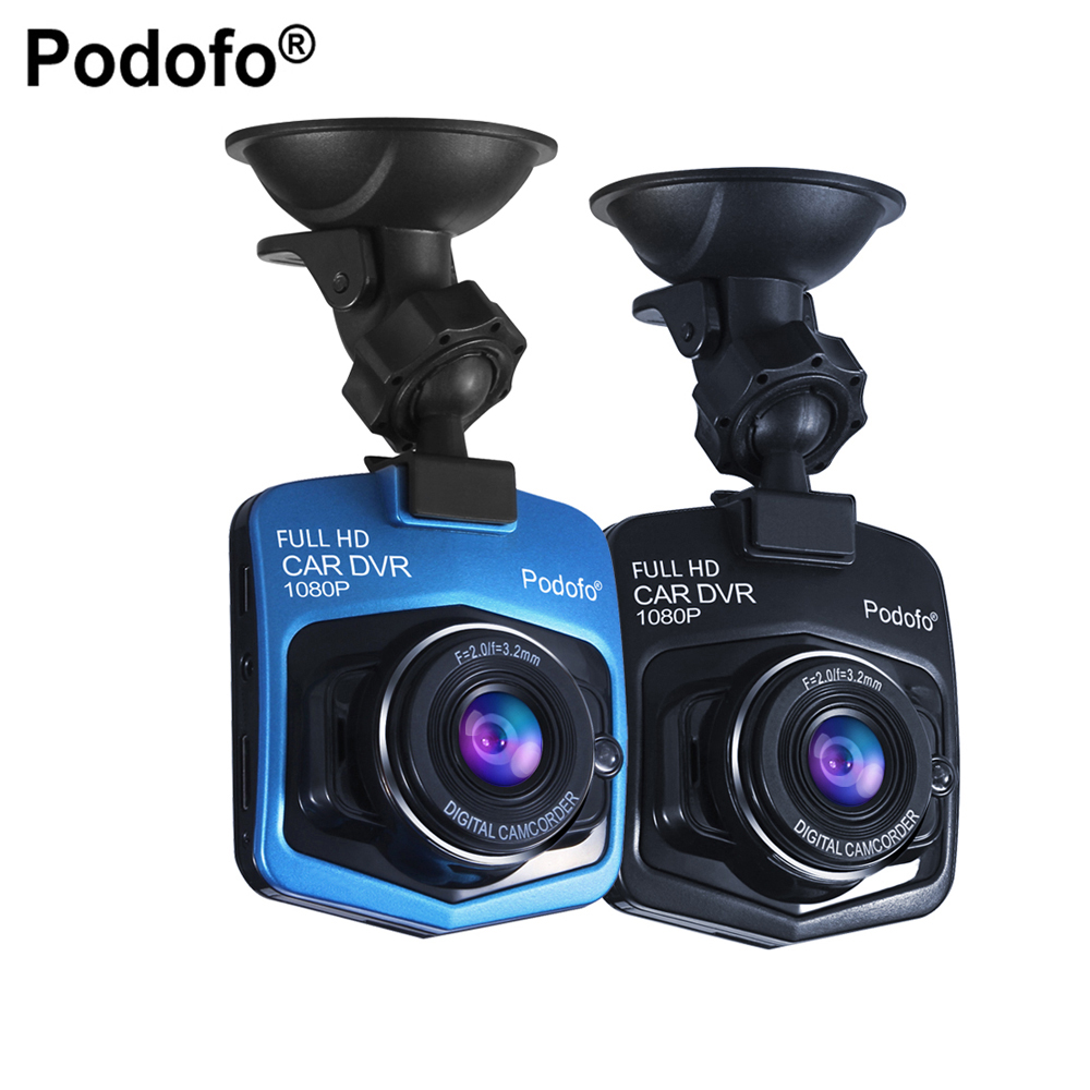 Podofo Mini Car DVR GT300 Camera Camcorder 1080P Full HD Video registrator Parking Recorder Night Vision G-sensor Dash Cam DVRs car dvr dash camera full hd 1080p 2 7inch camcorder video registrator parking recorder g sensor dash cam 170 degree night vision