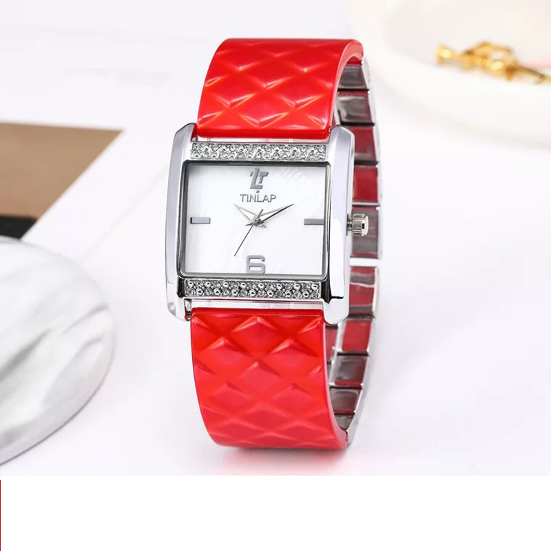 2019 Ladies Wristwatch Watch Luxury Rectangle Casual Watches Women Dress Casual Wristwatch Ester fiber Band Quartz Watch Clock2019 Ladies Wristwatch Watch Luxury Rectangle Casual Watches Women Dress Casual Wristwatch Ester fiber Band Quartz Watch Clock