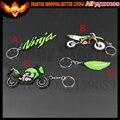 6 UNIDS COCHE MOTOR BICI de la MOTOCICLETA de GOMA SUAVE ROCA LOGO Para Kawasaki Ninja LLAVERO LLAVERO LLAVERO LLAVERO