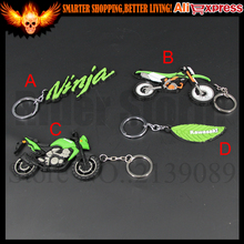 CAR MOTOR MOTORCYCLE BIKE SOFT RUBBER ROCK LOGO For Kawasaki Ninja KEYCHAIN KEYRING KEY CHAIN KEY RING