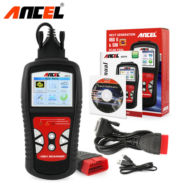 OBD OBD2 Car Scanner ANCEL AD510 Auto Engine Read Clear Fault Codes Reader Free Update Automotive Scanner Car Diagnostic Tool
