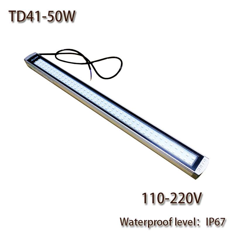 ФОТО HNTD 50W AC 220V LED Work Lamp Explosion-Proof Waterproof IP67 TD41 Led Panel Light CNC Machine Tools lighting 2017 Hotsale