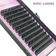 SONG LASHES 12Rows Faux mink individual eyelash lashes maquiagem cilios for professionals soft mink eyelash extension genie shadow lashes individual lashes double curl and length faux mink fit for volume eyelash extension make up eye lashes
