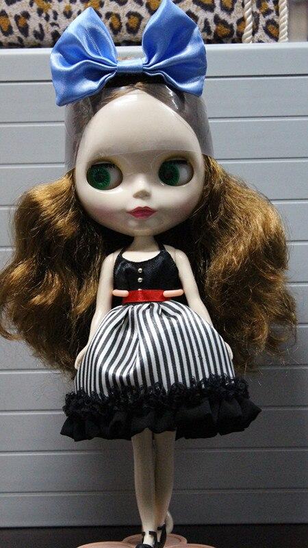 Коричневые длинные волосы Блит кукла большая голова Блит ...