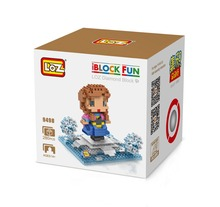 LOZ 9498 Princess Anna Kingdom of Ice and Snow Diamond Bricks Minifigures Building Block Compatible with Legoe