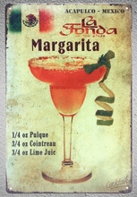 1 pc Margarita Mexico Cocktail drink plaza lime juice bar  Tin Plate Sign wall plaques cave Decoration Dropshipping metal Poster