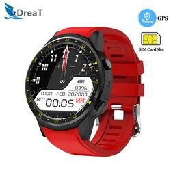 GPS inteligentny zegarek mężczyźni Bluetooth smartwatch sportowy aparat pulsometr z kamera na kartę sim zegarek na telefon android ios
