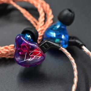 Image 3 - Original KZ ZST Bunte BA + DD In Ohr Kopfhörer Hybrid Headset HIFI Bass Noise Cancelling Earbuds Mit Mic Ersetzt BT Kabel
