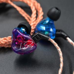 Image 3 - Original KZ ZST coloré BA + DD dans loreille écouteur hybride casque HIFI basse suppression de bruit écouteurs avec micro remplacé BT câble