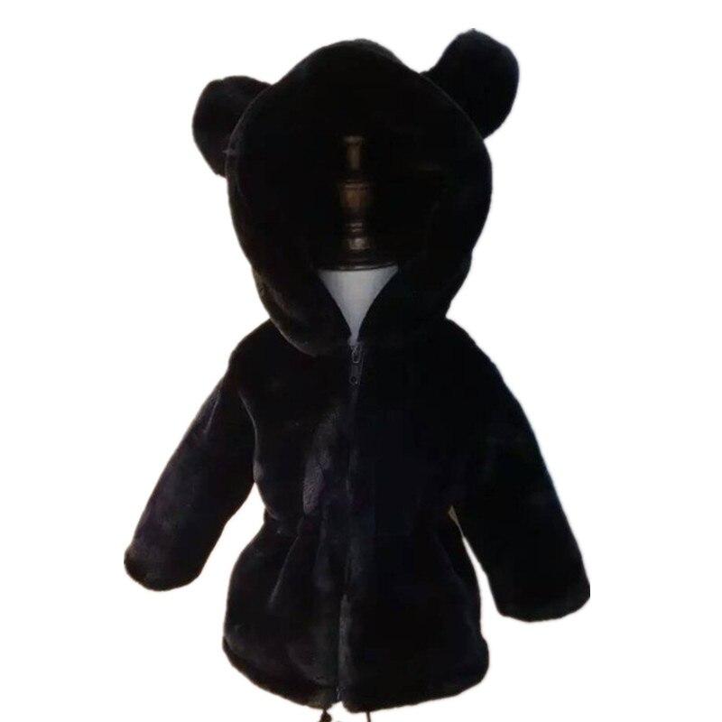 2018 Winter Jacket Baby Girls Coat Children's Jacket for Teenage Girls Artificial Fur Coat Kids Faux Fur Thick Coat 2-16Y faux fur jacket baby blumarine faux fur jacket