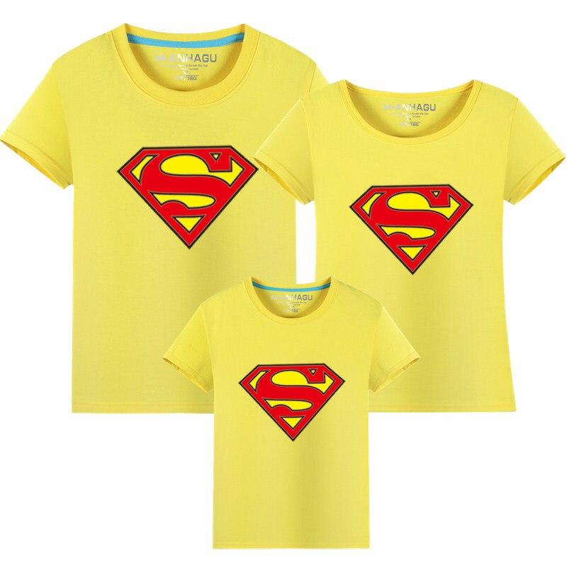 1 st Hot Superman Familj Matchande T-shirts Kvalitet Bomull Sommar - Barnkläder - Foto 3
