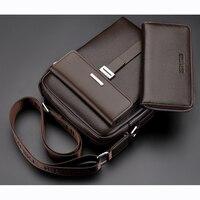 2019 New Arrival Fashion Men Business Leather Messenger Bag designer Casual Crossbody Shoulder Bag Men Bag Briefcase Promotional