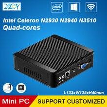 XCY Barebone Мини-ПК Intel Celeron N2930 N2940 N3510 Четырехъядерных ядер Микро Настольных Компьютера Бытовой Неттопов VGA HDMI WI-FI Windows10