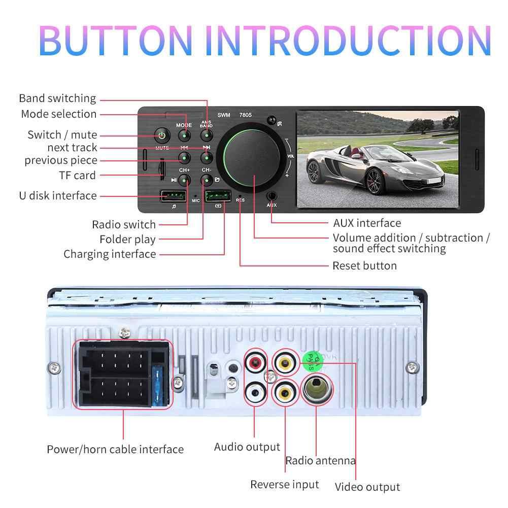 """4.1 """"1 Din 勝利 Ce 車 MP5 プレーヤータッチスクリーン FM ラジオ Bluetooth デュアル USB TF U ディスク電話リアカメラ 1Din 接続でき"""