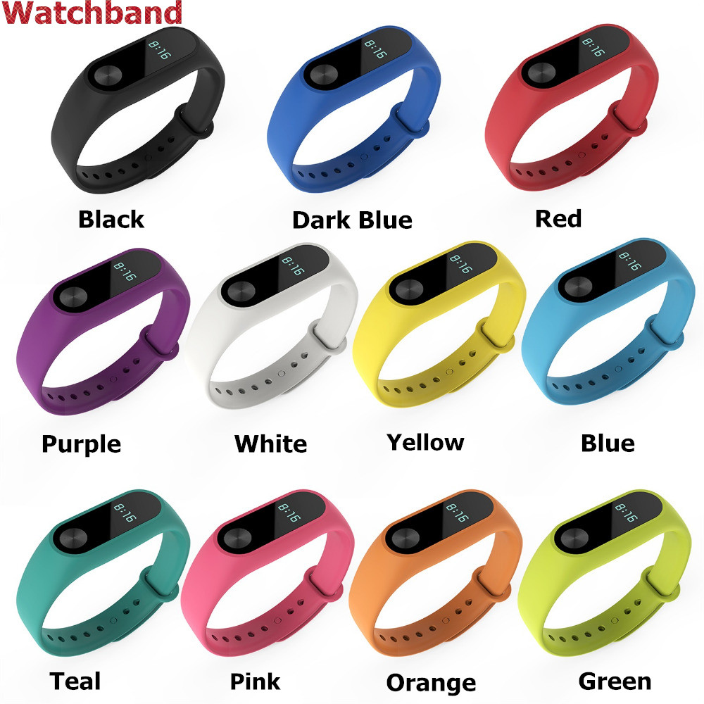 Silicone Wrist Strap WristBand Bracelet Replacement for XIAOMI MI Band 2