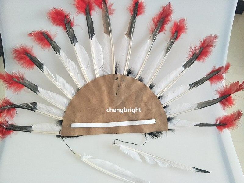 horké 16 palců vysoký indický čelenka indické peří kapuce kapuce ruční výroba kostým oblek dekorace diy karneval svatba