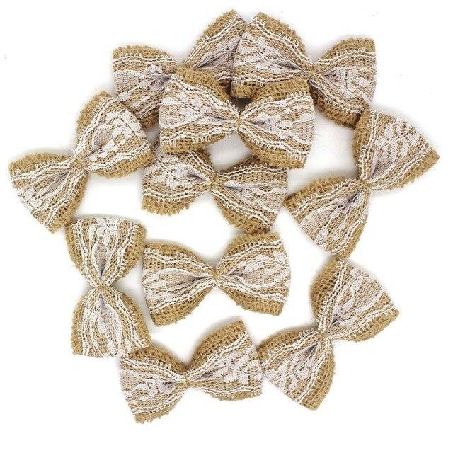 Vintage Burlap Bows accessories Decoration Ribbons Wedding Accessories cb5feb1b7314637725a2e7: bowknot and pearls|bowknot no pearls|bowknot wooden heart